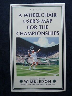 2005 Wimbledon Tennis Championship Wheelchair User's Map