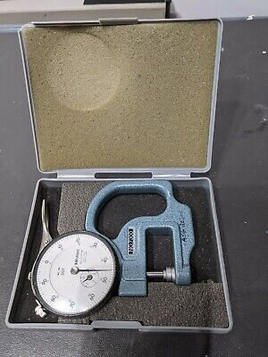 Mitutoyo Micrometer No. 7300 Dial Thickness Gage .001-.400 No.2412-08