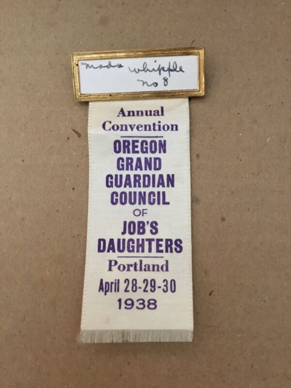 Vintage Oregon Grand Guardian Council Job's Daughters Portland April 1938