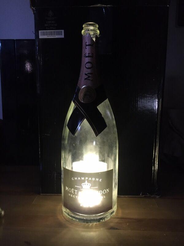 Moet And Chandon Luminous Champagne Bottle EMPTY 1.5 Liter Magnum