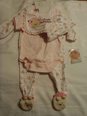 Vitamins Girl 3 or 9 Month Choice Cowgirl Bib Sleeper Hat Bodysuit Outfit NWT (Cow Girl Outfits)