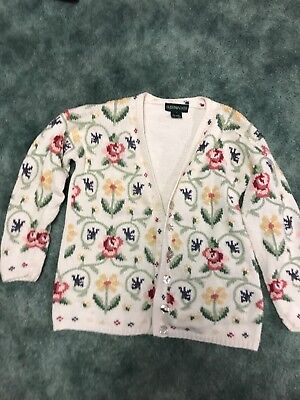 Floral SpRing Theme Sweater Size Small Cream green floral beautiful?ugly Sweater](Ugly Sweater Theme)