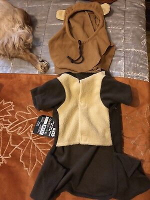 Dog Pet halloween Costume Star Wars Ewok  Sz Med (Ewok Dog Costume)