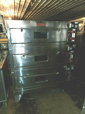 Vulcan Electric Stainless 3 Deck Bakery Oven Triple Stack Commercial 57 Wide