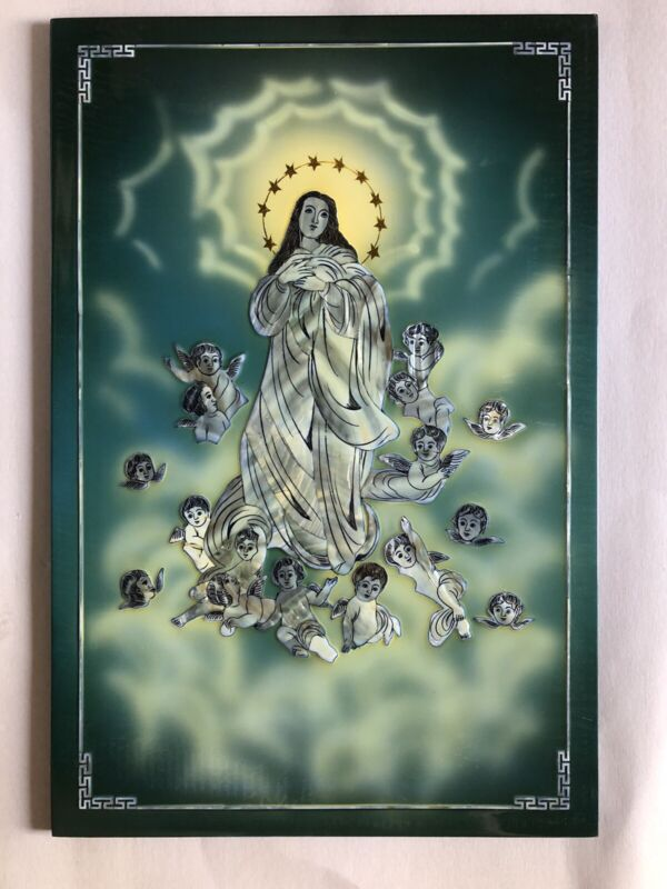 Vietnamese Lacquer painting ,Mother of Pearl  Art 16x24. Brand New FREE SHIPPING