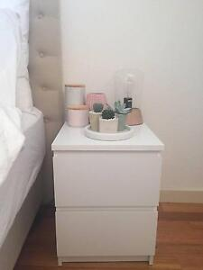 IKEA MALM chest of two drawers WHITE (x2) Maribyrnong Maribyrnong Area Preview