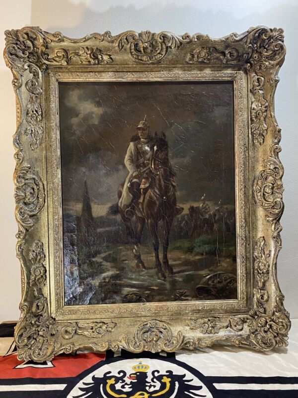 OTTO VON BISMARCK Franco-Prussian War Imperial German Prussian Military Painting