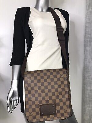 AUTHENTIC LV Louis Vuitton Damier Ebene BROOKLYN PM Crossbody Bag US SELLER