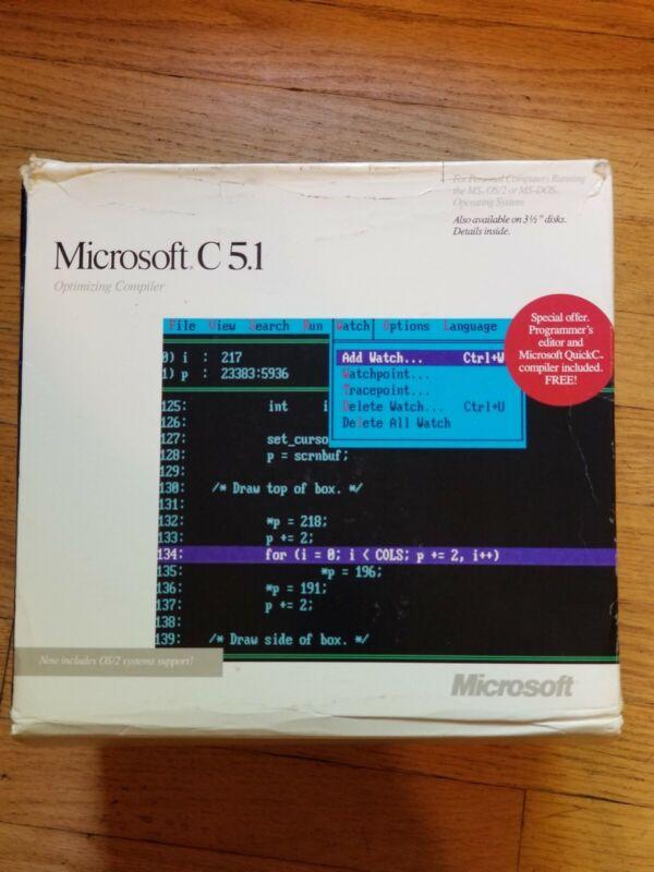 Microsoft C Compiler 5.1