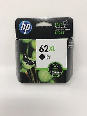Genuine HP 62XL Black Ink Cartridge (C2P05AN#140), High Yield NEW OEM 2018-2019