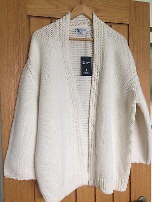 RRP £649 Johnston's of Elgin Super Thick Chunky Cashmere Kimono Cardigan