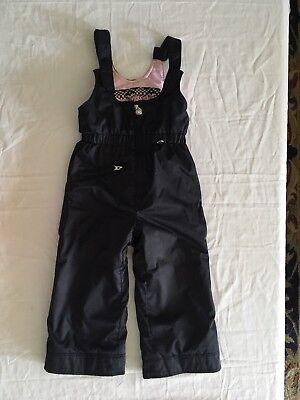 687b2f5a7c Obermeyer Waterproof Ski Snow Suit Pants Bibs Kids Girls Size 4 Snowsuit  X-small