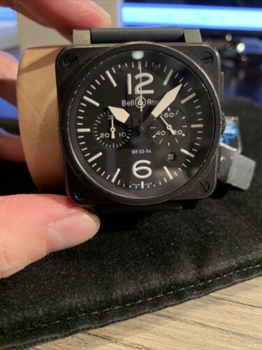 Bell & Ross BR03-94 Chronograph Aviation Type/Military Spec. – Black Steel - watch picture 1