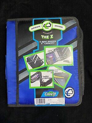 Case-it Zipper Binder The Z Double 1 12 D Ring Binder Strap Handle Blue 3