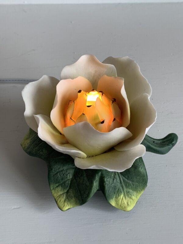 Magnolia Flower Ceramic Night Light