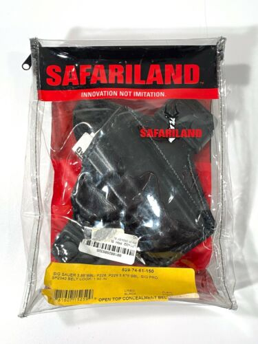 SAFARILAND OPEN TOP CONCEALMENT BELT SLIDE HOLSTER SIG P228 P229 - PRO SP2340 RH