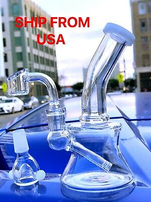 Collectible Tobacco Glass Water Pipe Bong Bubbler Hookah Rig 6