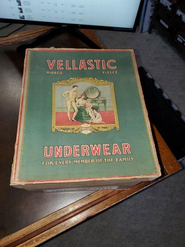 Vntg NOS Vellastic Underwear Ribbed Fleece Box & 3 Ladies Utica Bodygard Vests