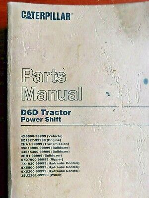 Caterpillar 1991 Parts Manual- D6d Tractor Power Shift Bulldozer Vehicle Winch