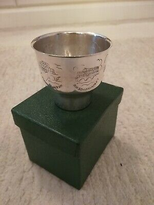 Vintage Silver Plated Personalised Christening Cup Or Shot Goblet