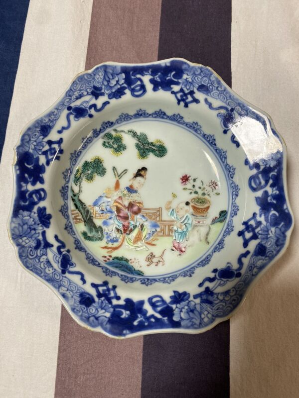 A Superb Chinese Famille Rose 18th C Plate