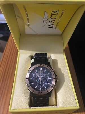 MEN'S INVICTA SPECIALTY 6791 TRITNITE CHRONOGRAPH BLACK STAINLESS STEEL WATCH