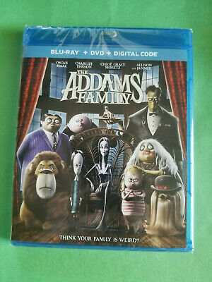 NEW - The Addams Family (Blu-ray / DVD, 2019, 2-Disc set + Digital) Free ShipN!