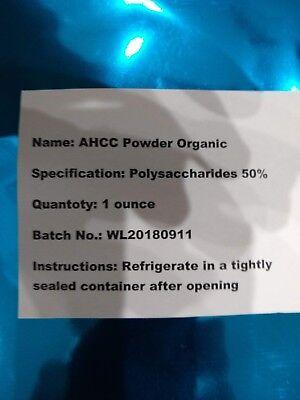 - Active Hexose Correlated Compound  (AHCC) 100% Organic Pure POWDER FDA Lab 1 Oz.