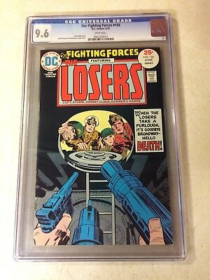 OUR FIGHTING FORCES #156 CGC 9.6 NM+ TOP GRADED, KIRBY, WAR, LOSERS, 1975