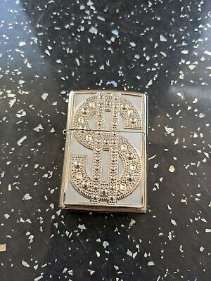 Zippo Lighter~Dollar Sign With Diamante's