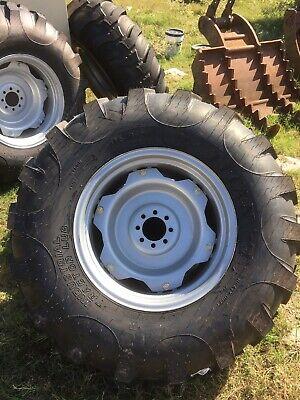16.9-24 R4 Nhs 8 Ply Heavy Duty Bias Ply On Adjustable Industrial Wheel 16.9x24