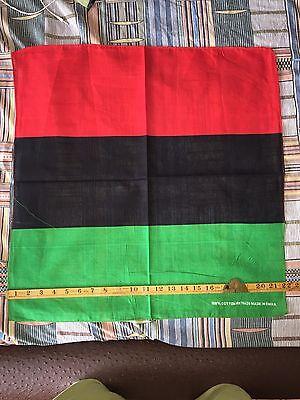 Afro Rasta Pan African Black Pride Red Black & Green Bandana - Green Bandanna