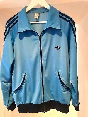 Rare Vintage Adidas 80s Trefoil Sky Blue Size L