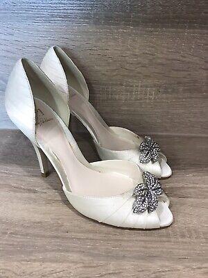 No1 Jenny Packham Designer Ivory Wedding Shoes High Heels - Size 5 Cost £139