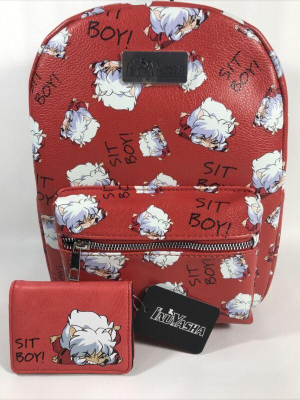 BioWorld InuYasha Sit Boy Anime Mini Backpack & Cardholder