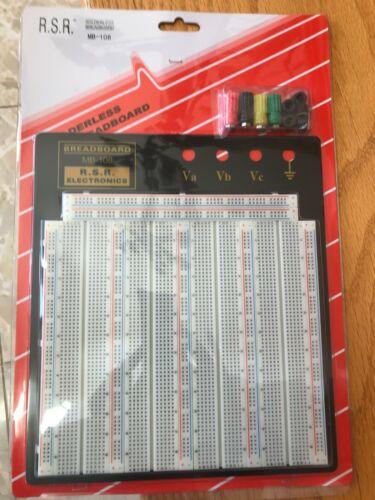 """Solderless Breadboard MB108 8.4"""" x 9.4"""", 3220 tie points, 4 binding posts"""