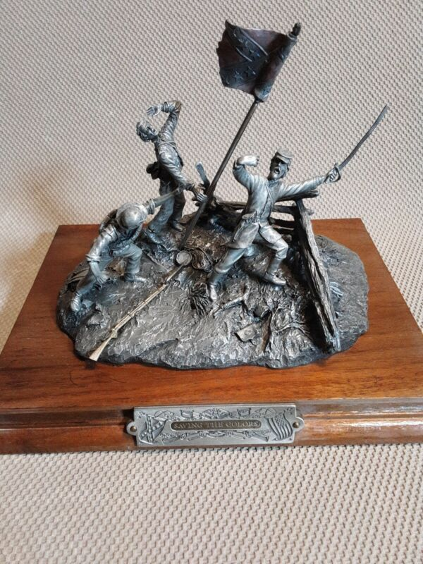 """Civil War Chilmark Pewter """"Saving The Colors"""" By  Barnum # 535"""