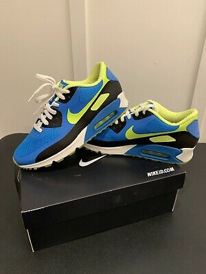 MENS NIKE AIR MAX 90 HYP HYPERFUSE Blue Green White SZ 9 Nike ID [653603-992]