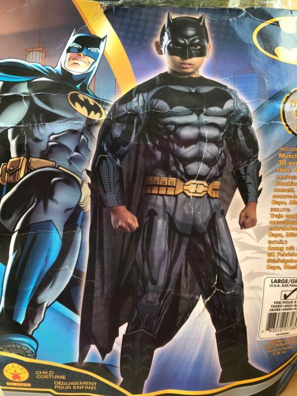Justice League Movie Tactical Batman 3D Large 12-14 Halloween Boys Child Costume