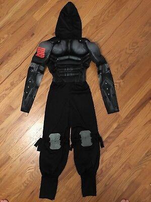 GI Joe Snake Eyes Costume, Boys Size Large 42-45