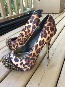 Brand New Leopard High Heels!  Size 8.
