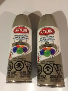 2 New cans Krylon in/outdoor gloss spray paint. Greek Stone
