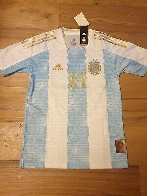 Maglia calcio Messi 10 nazionale Argentina commemorativa Maradona copa America S