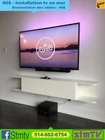 INSTALLATION TELEVISION 514-602-6754 support tv murale
