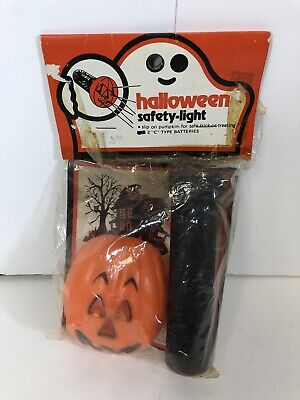 Vintage Halloween Safety Light Fun World Still Sealed ](Vintage Halloween Safety)