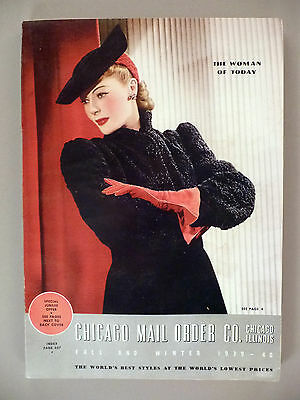 Chicago Mail Order CATALOG - Fall/Winter, 1939-40 - clothes, fashion ~ 366 pages