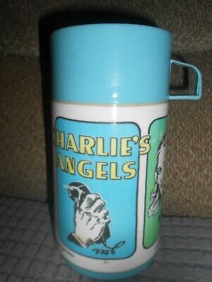 VINTAGE 1977 CHARLIE'S ANGELS THERMOS-ALADDIN-COMPLETE