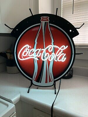 COCA COLA Bottle Neon Sign 24x20 with 10ft Power Cord **Bright White Color**