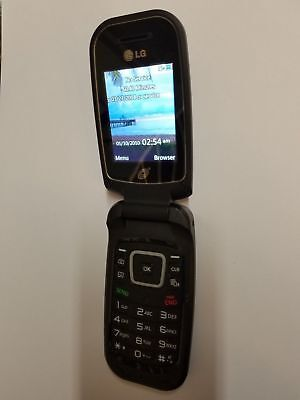 Double Flip Cell Phone (LG 440G TracFone Cellular Phone Prepaid Flip Cell Clean ESN Double)