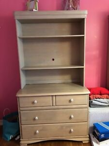 Dresser with book shelf on top
